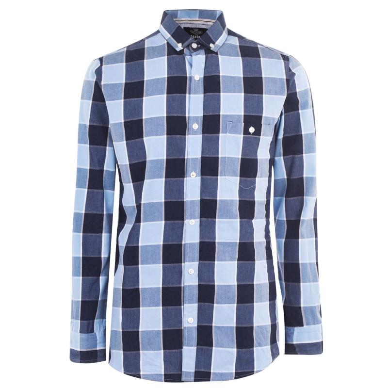 Threadbare Check Shirt Mens Blue Check