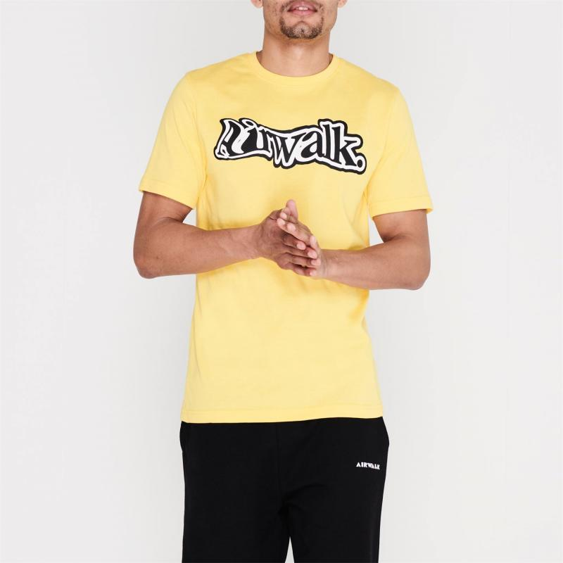 Tričko Airwalk Wave Logo T Shirt Mens Yellow