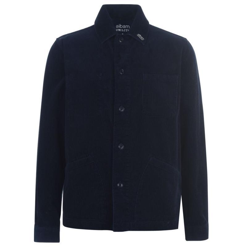Albam Utility Cord Overshirt Navy