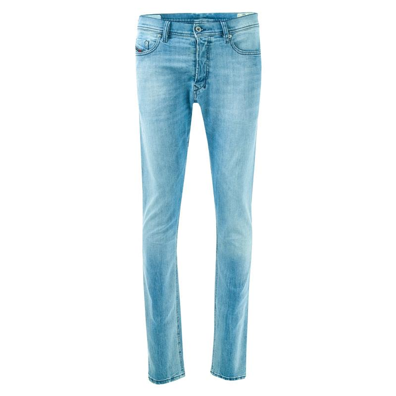 Diesel Mens Tepphar Slim Carrot Fit Jeans Denim