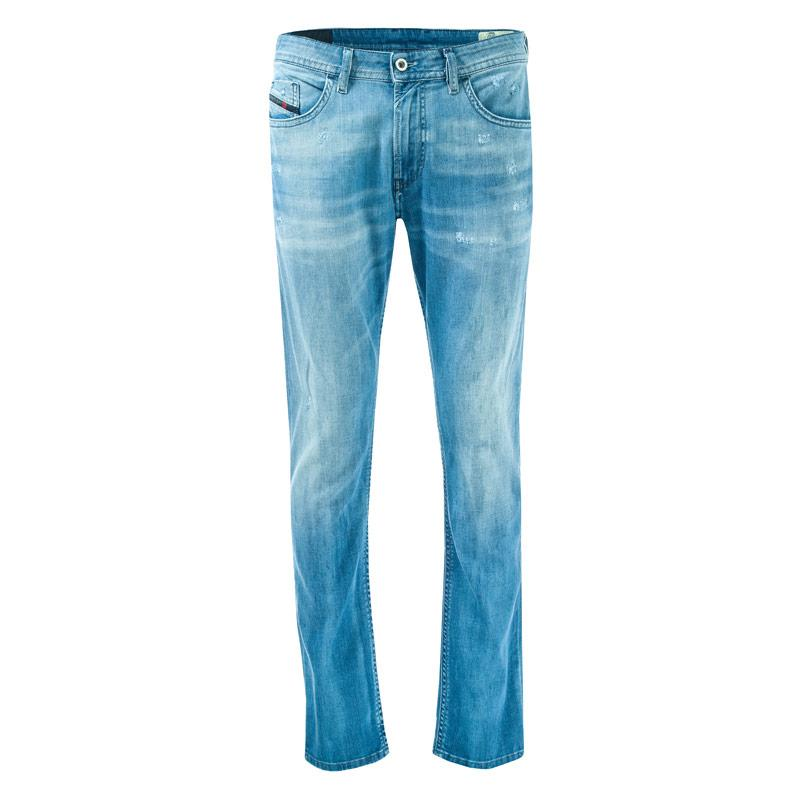 Diesel Mens Thommer Slim Fit Jeans Denim