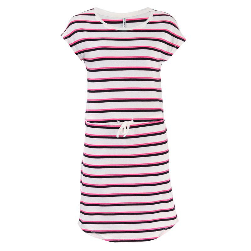 Šaty Only Womens May Life Stripe Dress White pink