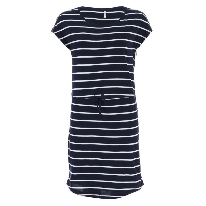 Šaty Only Womens May Life Stripe Dress Navy-White