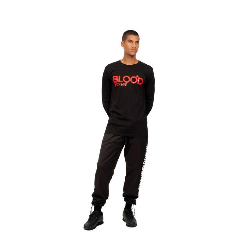 Tričko Blood Brother Fight Club Long Sleeve T Shirt Black