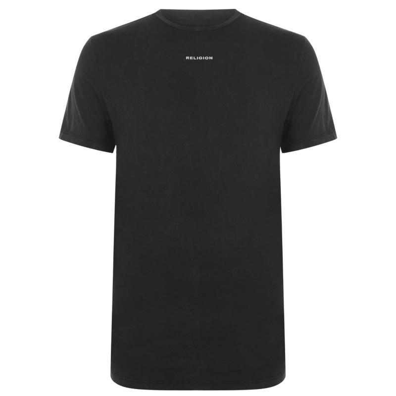 Tričko Religion Clue T Shirt Black Wash