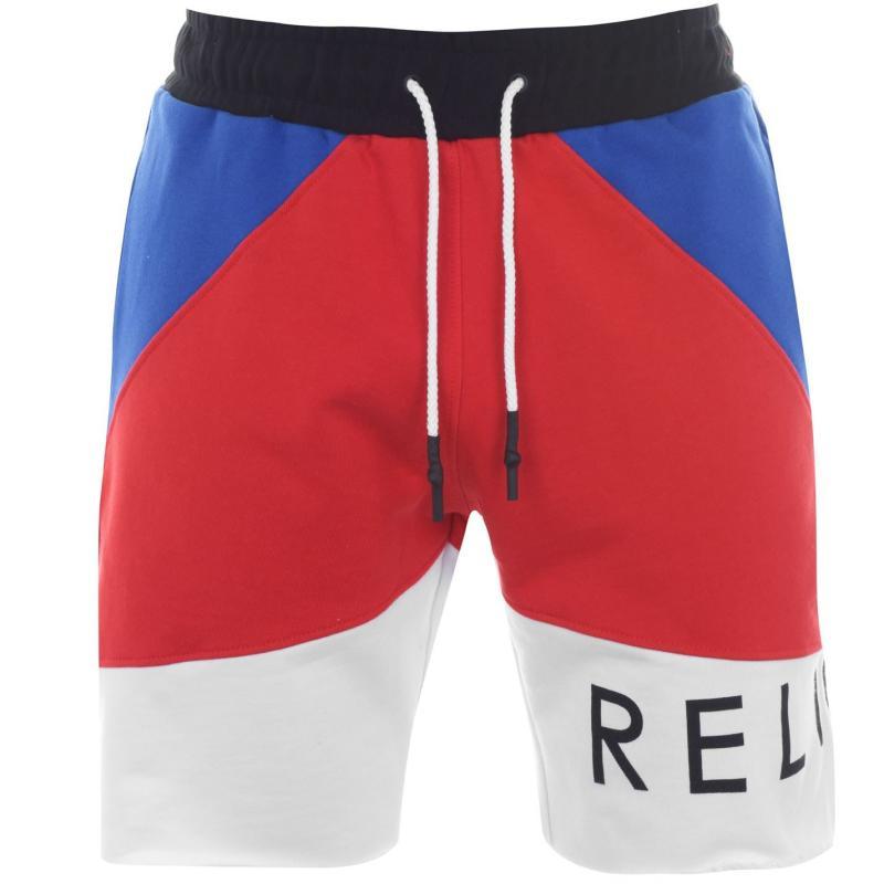 Religion Religion Mens Block Stripe Shorts RED