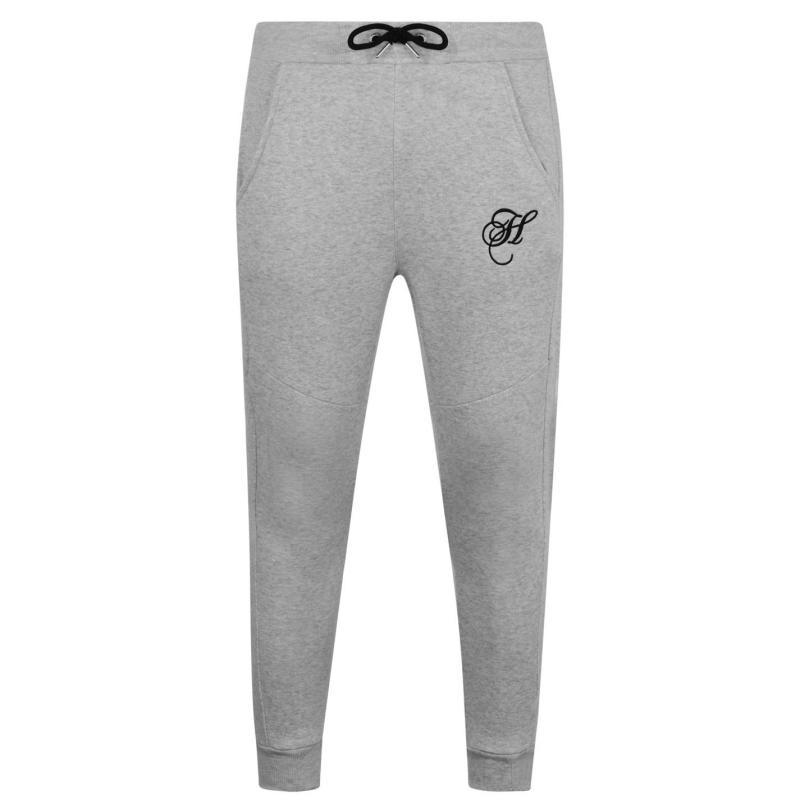 Tepláky Hardcore Krome Jogging Pants Grey Marl