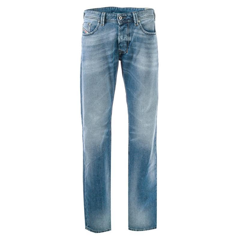 Diesel Mens Larkee Straight Leg Jeans Denim