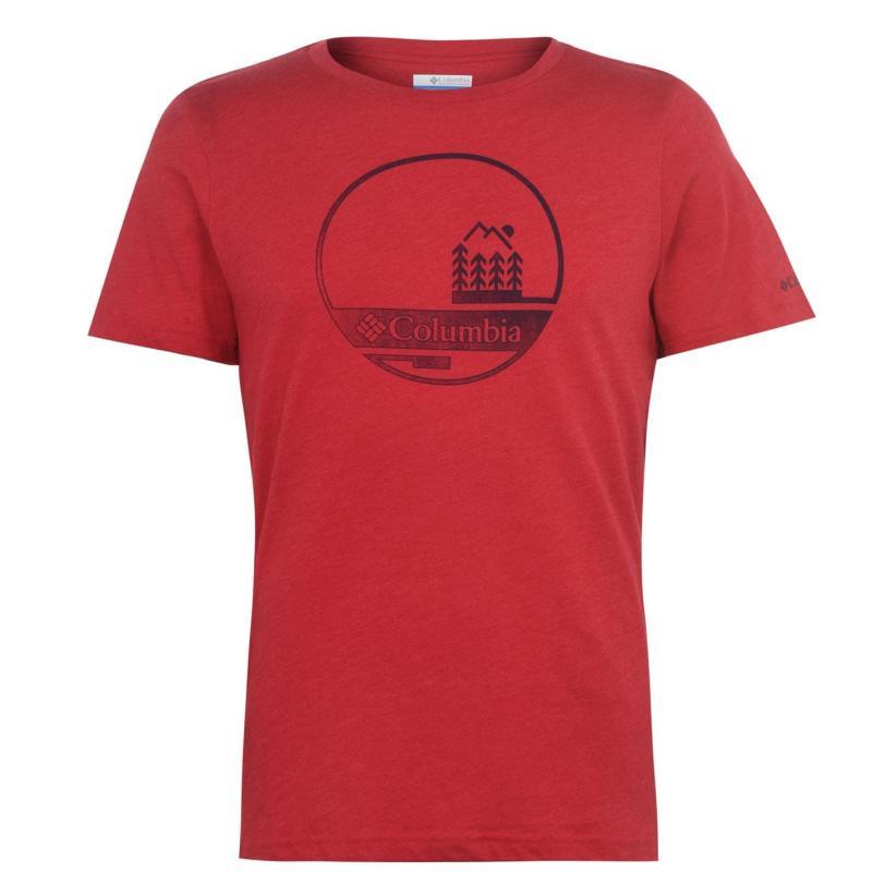 Columbia Bluff T Shirt Mens Mountain Red