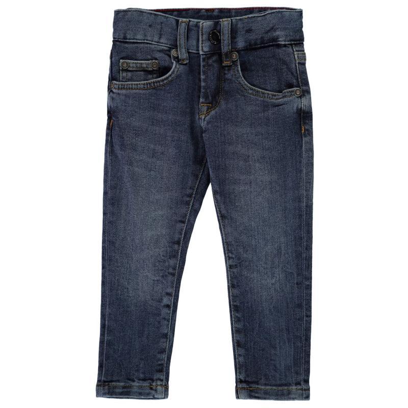 Kalhoty Hackett Hackett Boys Slim Fit Jeans 000 Mid Blue
