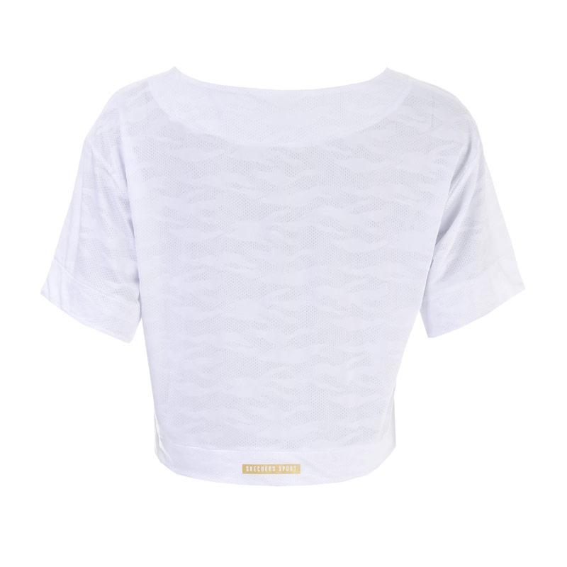 Skechers Womens Kai Boxy Slub T-Shirt White
