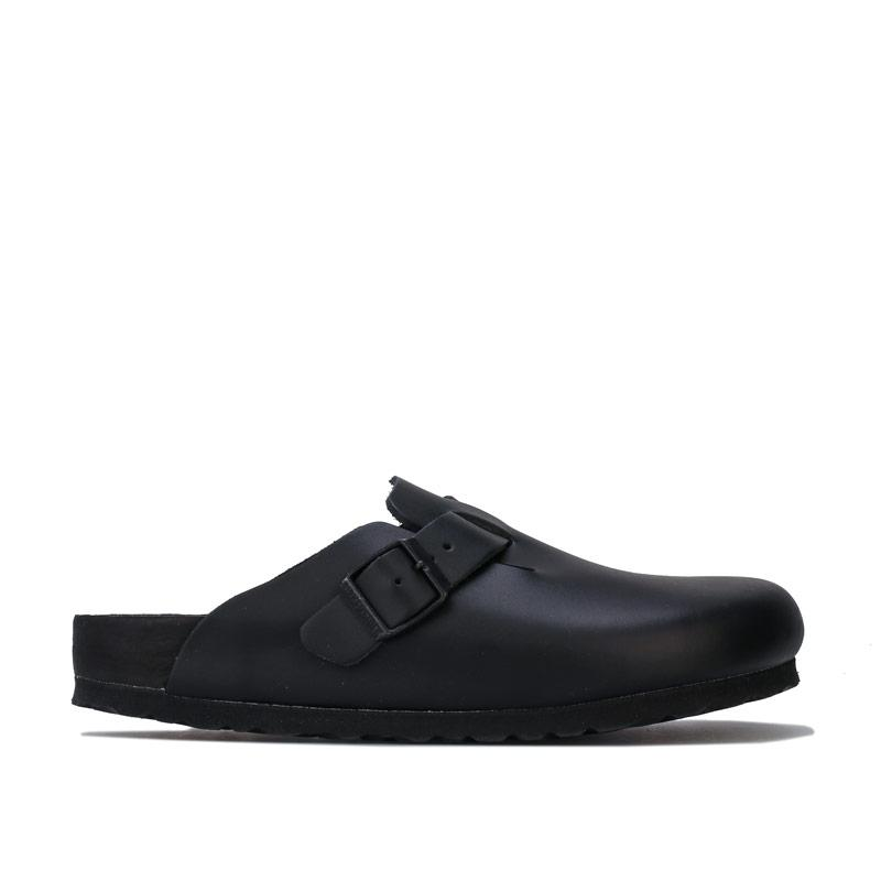 Boty Birkenstock Womens Boston NL Exquisite Sandals Black
