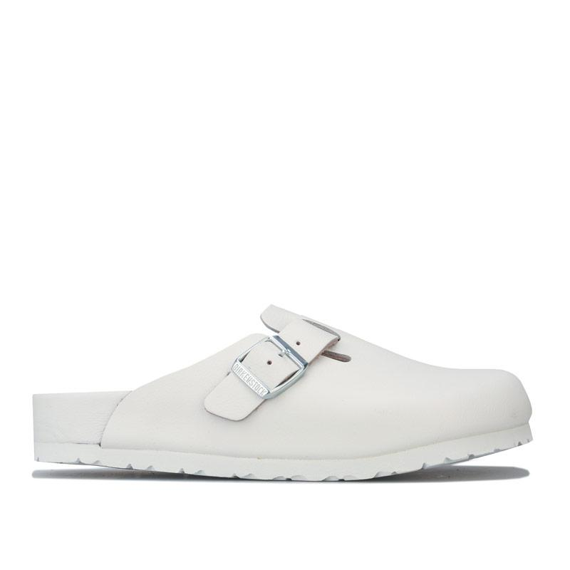 Boty Birkenstock Womens Boston NL Exquisite Sandals White