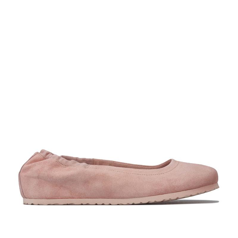 Birkenstock Womens Celina Suede Ballerina Shoes Narrow Rose