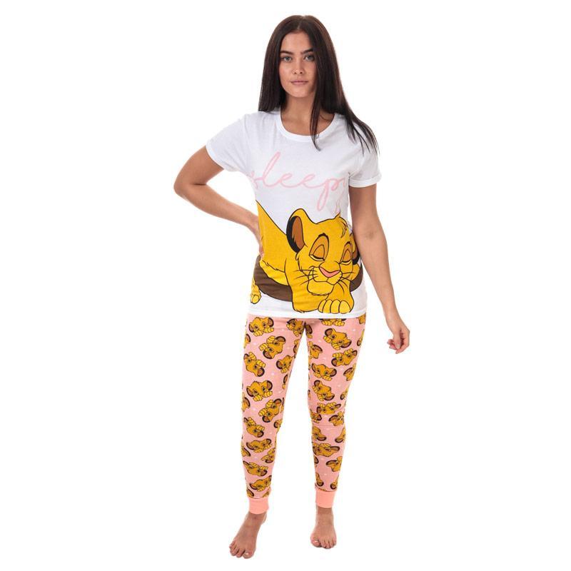 Pyžama Disney Womens Lion King Simba Pyjamas White
