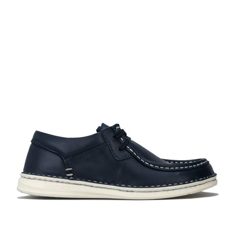 Birkenstock Womens Pasadena Leather Shoes Regular Navy