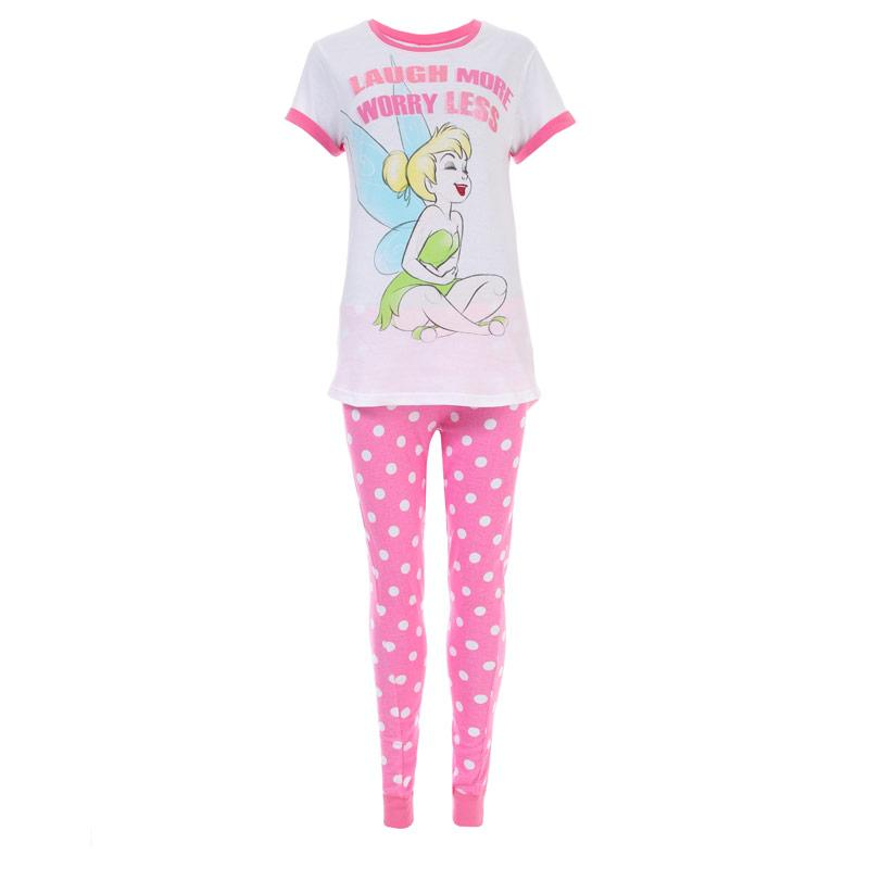 Pyžama Disney Womens Tinkerbell Pyjamas Pink white