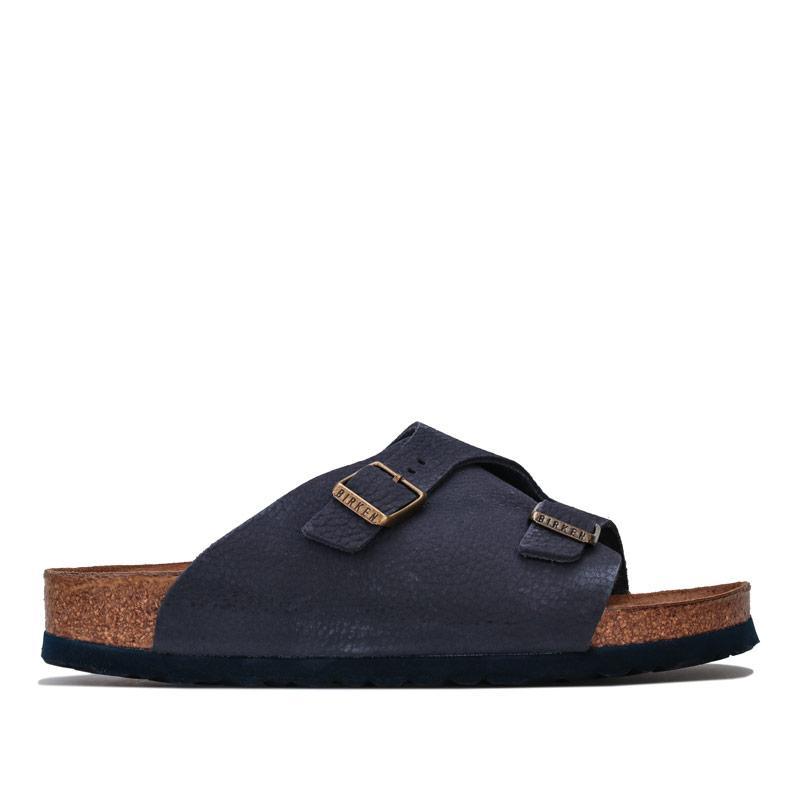 Boty Birkenstock Womens Zurich Soft Footbed Sandals Narrow Width Indigo