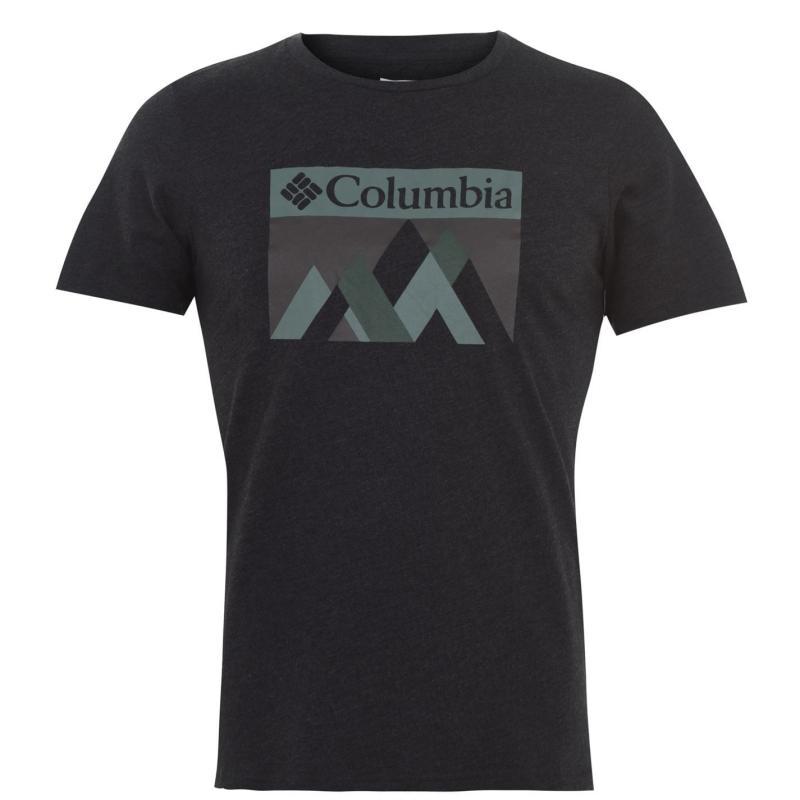 Columbia Alpine Way T Shirt Mens Black Peak