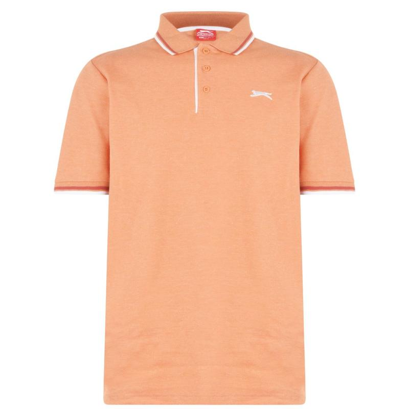 Slazenger Tipped Polo Shirt Mens Orange Marl