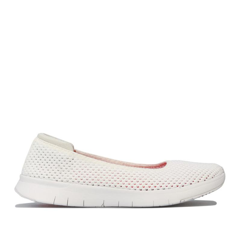 Fit Flop Womens Airmesh Ballerina Shoes White