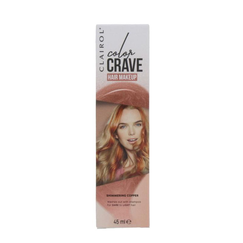 Clairol COLOR CRAVE 45ML WASHOUT HAIR MAKEUP SHIMMERING COPPER Shimmering Copp