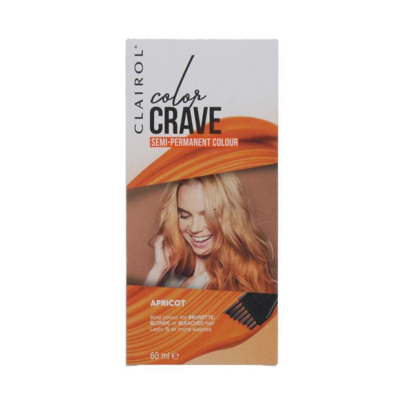 Clairol COLOR CRAVE 60ML SEMI PERMANENT HAIR COLOUR APRICOT Apricot