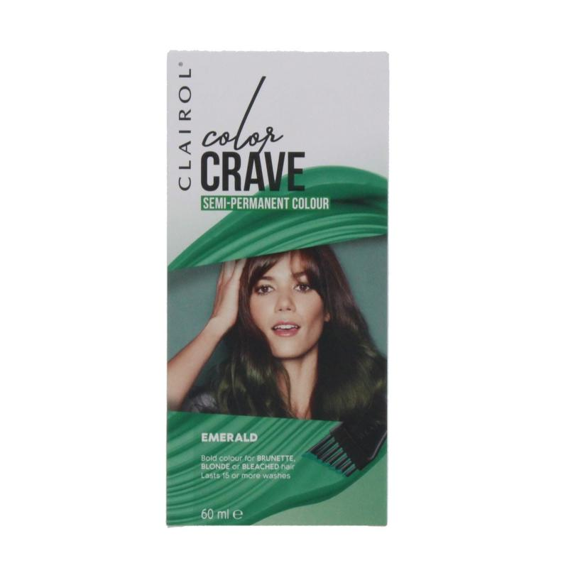 Clairol COLOR CRAVE 60ML SEMI PERMANENT HAIR COLOUR EMERALD Emerald