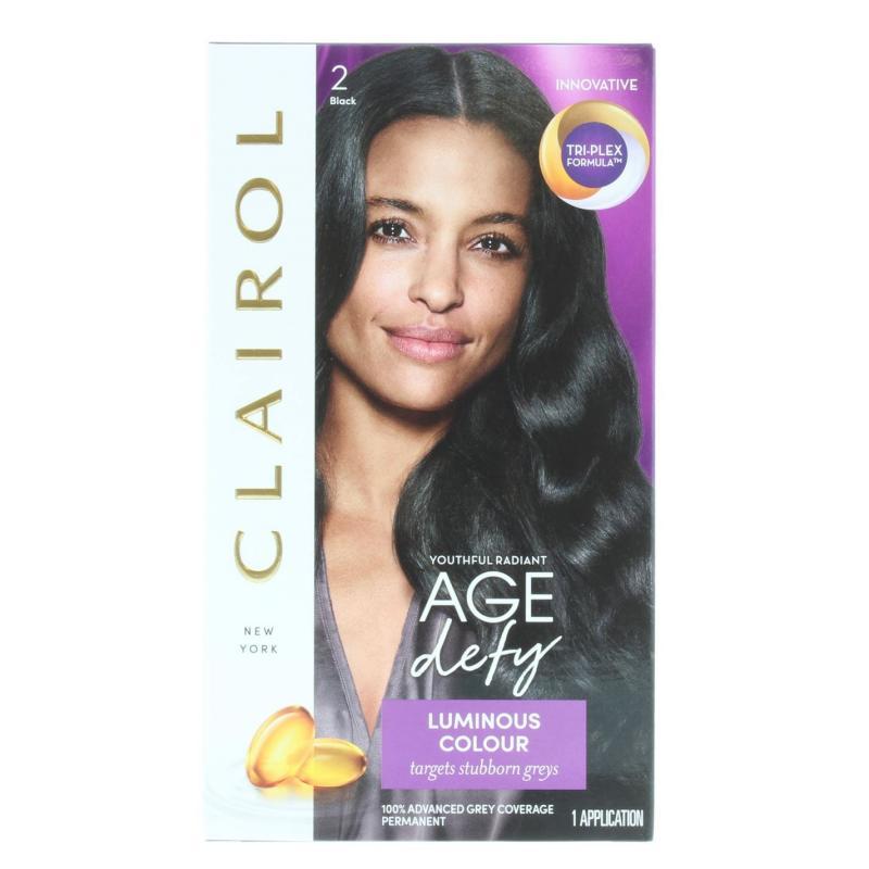 Clairol NICE'N EASY AGE DEFY PERMANENT HAIR COLOUR BLACK Blk