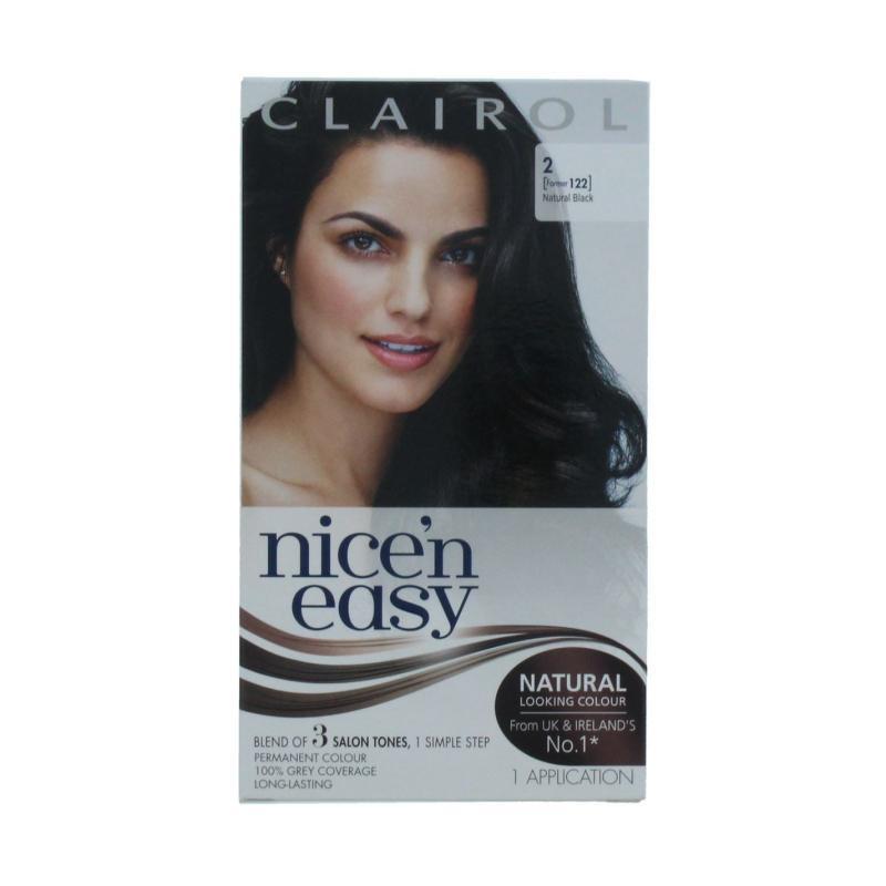 Clairol NICE'N EASY PERMANENT HAIR COLOUR NATURAL BLACK Nat Blk