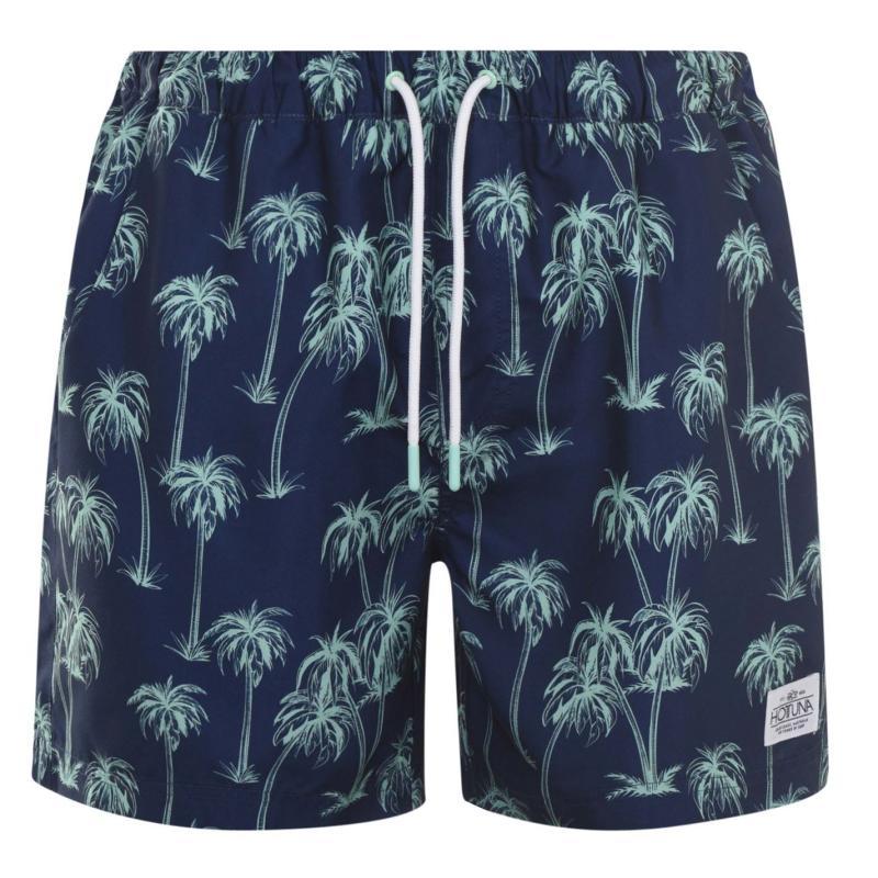 Plavky Hot Tuna Printed Shorts Mens Navy Palms