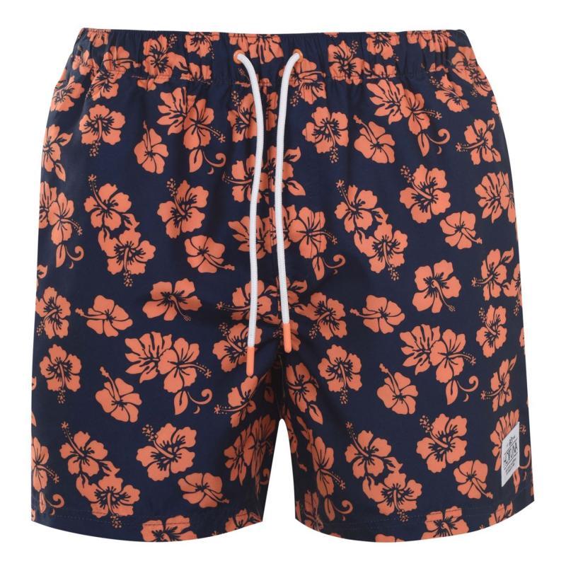 Plavky Hot Tuna Printed Shorts Mens Navy/Orange