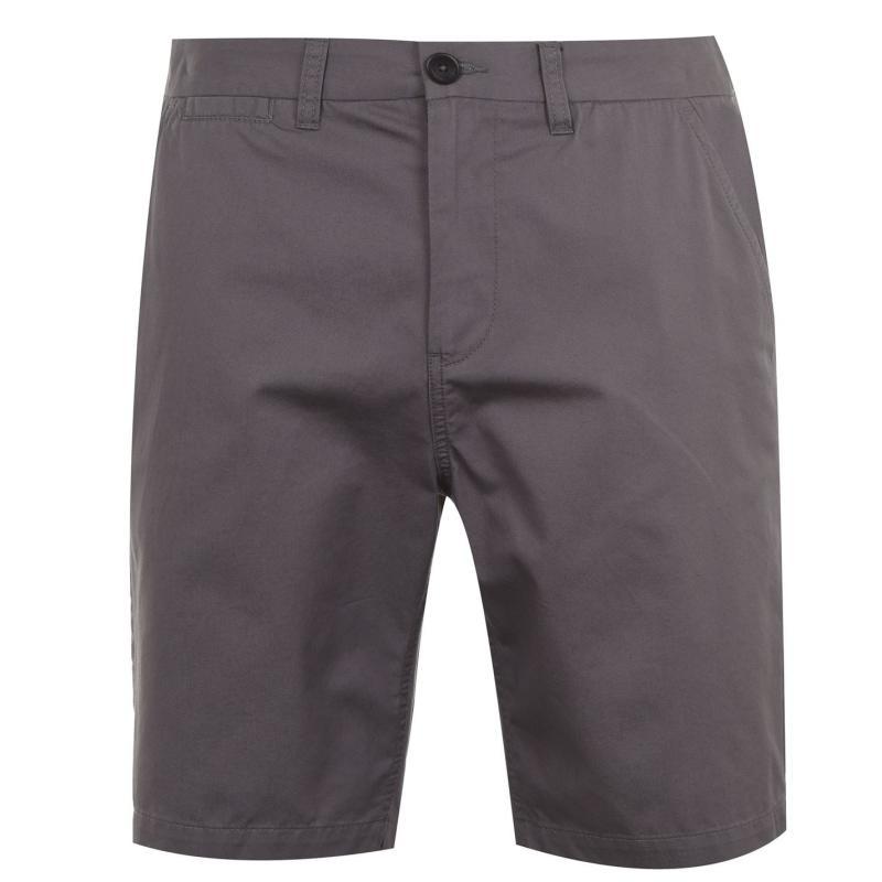 Pierre Cardin Chino Shorts Mens Charcoal