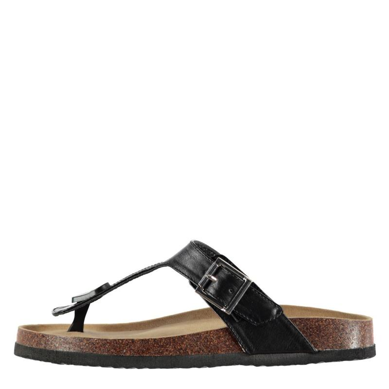 Boty SoulCal Cork Toe Post Sandals Ladies Black