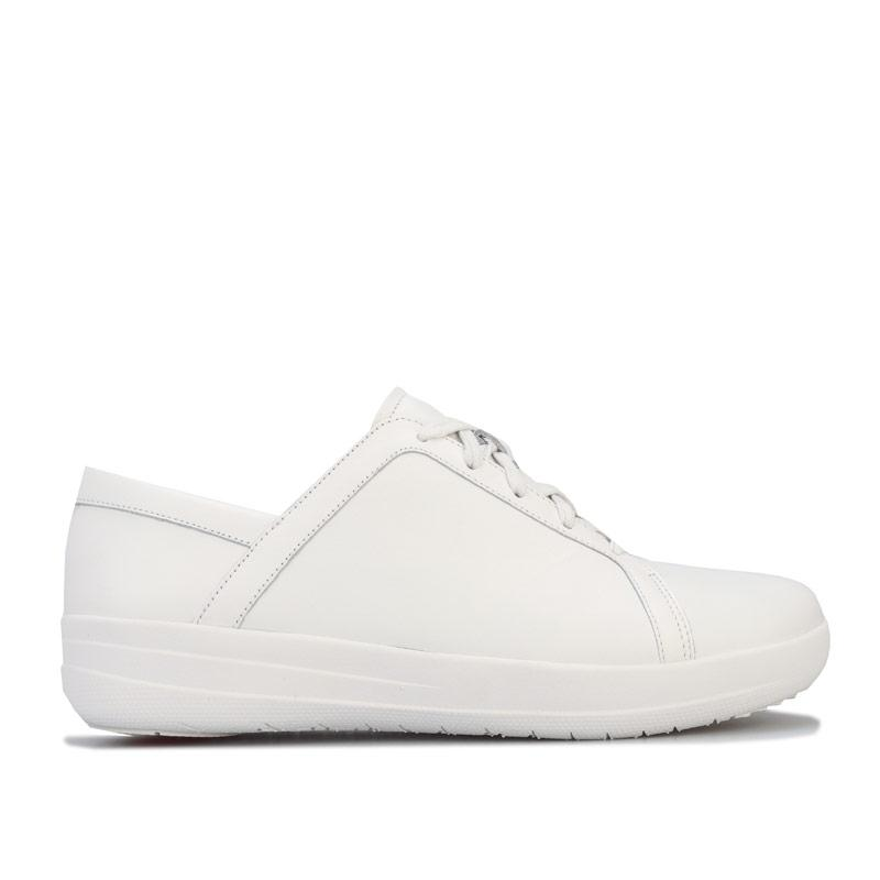 Fit Flop Womens F-Sporty-II Leather Trainers White