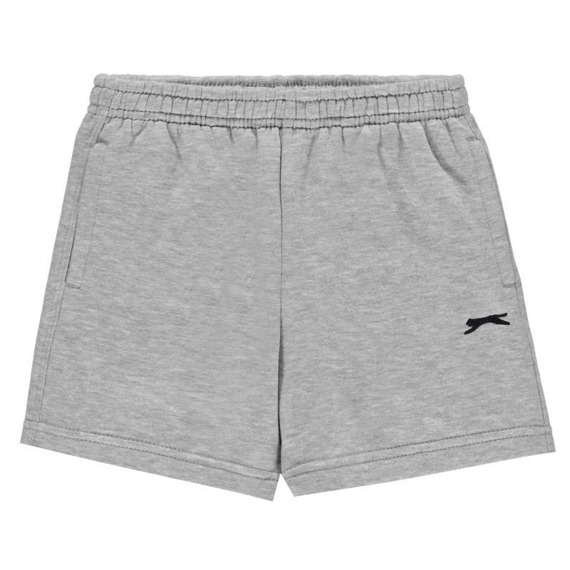 Kraťasy Slazenger Fleece Shorts Infant Boys Grey Marl