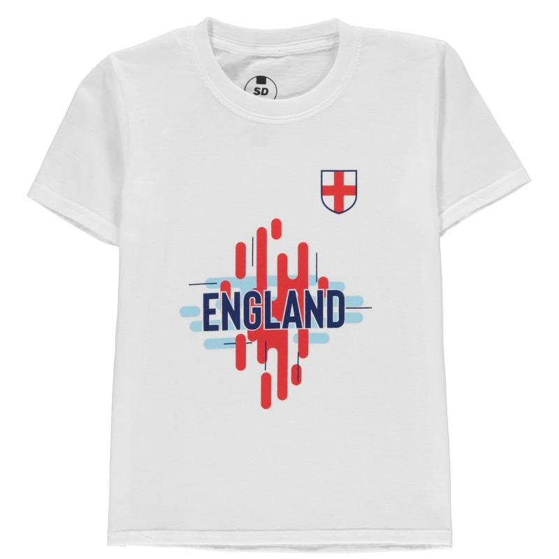 Team England Logo T Shirt Junior Boys White