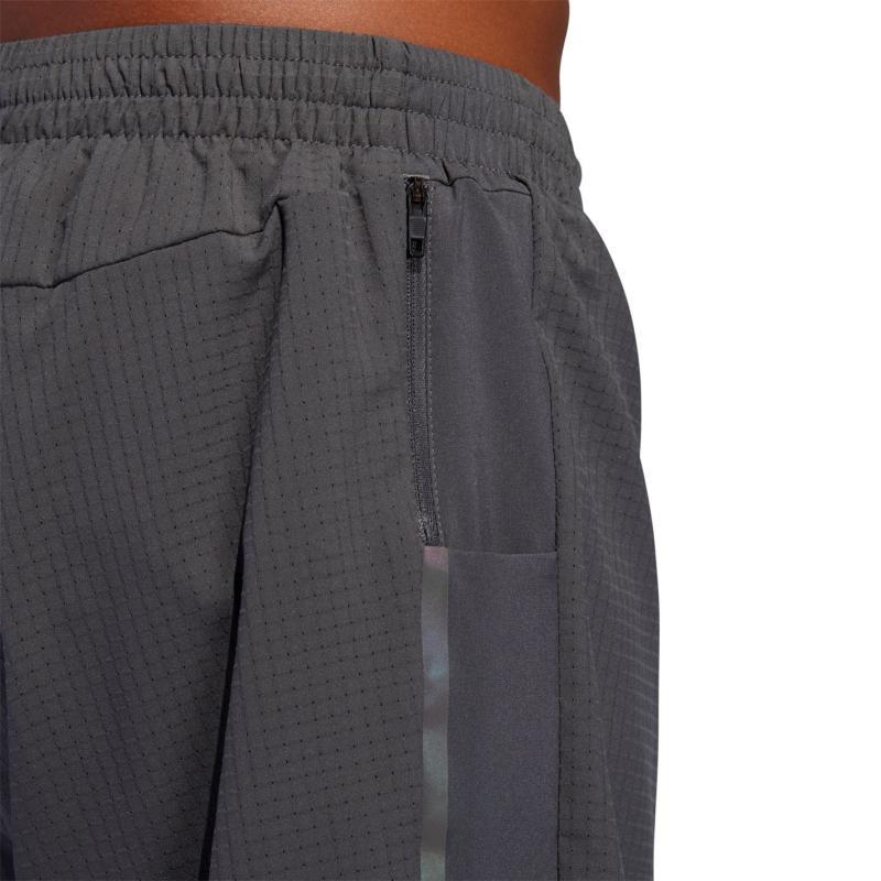 Adidas Mens Running Supernova Saturday Shorts Grey