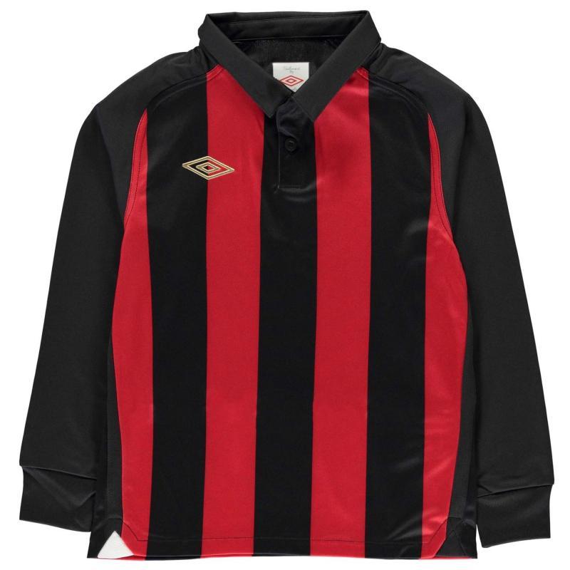 Umbro Jersey Junior Boys Black/Vermillio