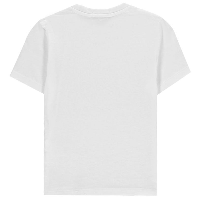 Tričko Calvin Klein Junior Boys Chest Short Sleeve T Shirt Bright White
