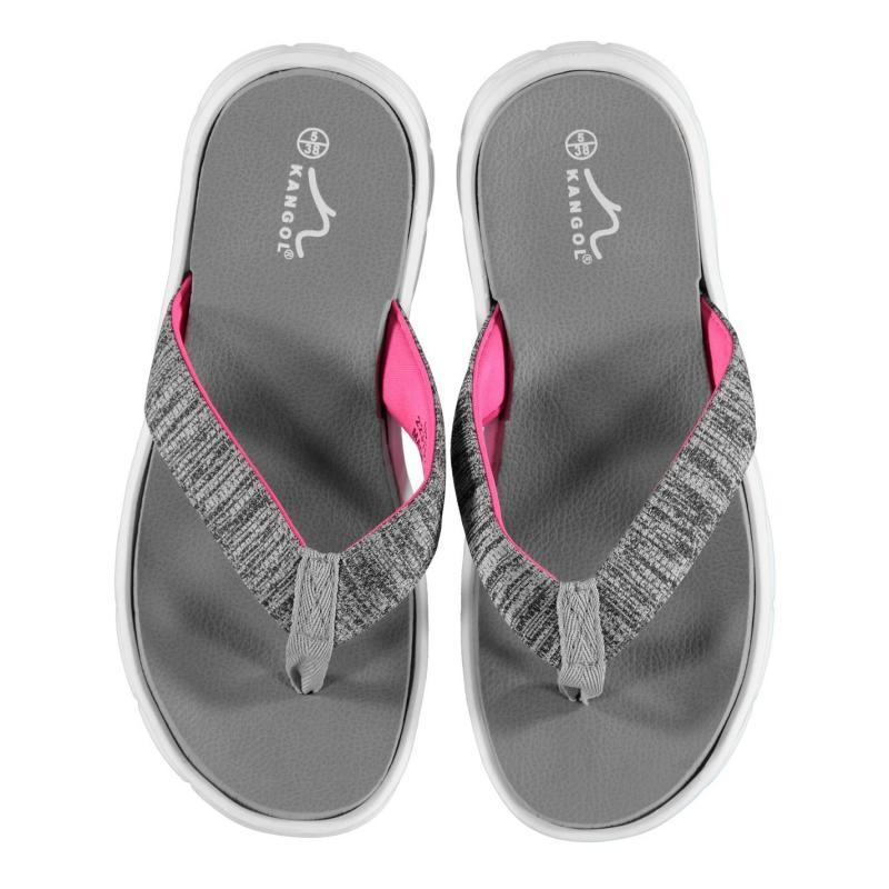 Boty Kangol Irene Toe Post Sandals Ladies Grey/Pink