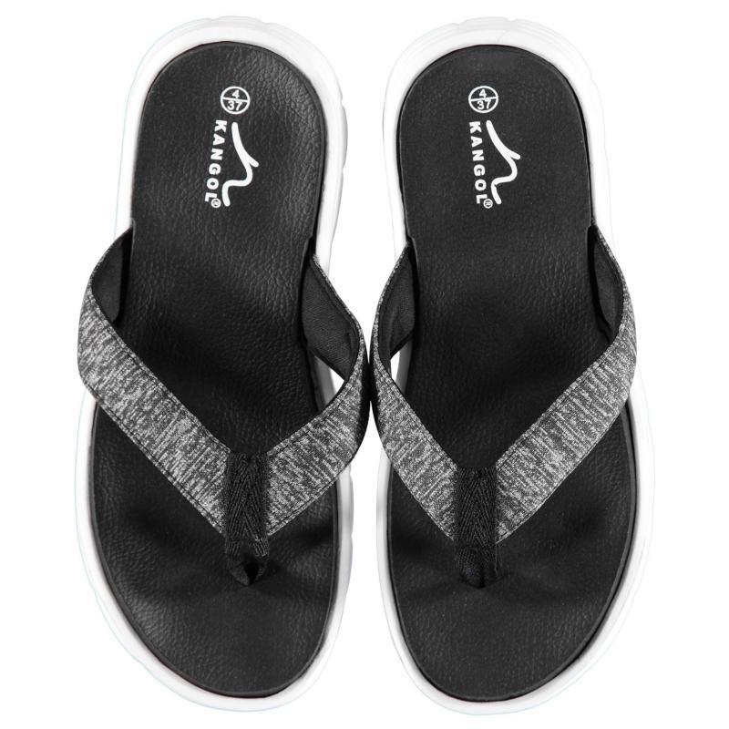 Boty Kangol Irene Toe Post Sandals Ladies Black