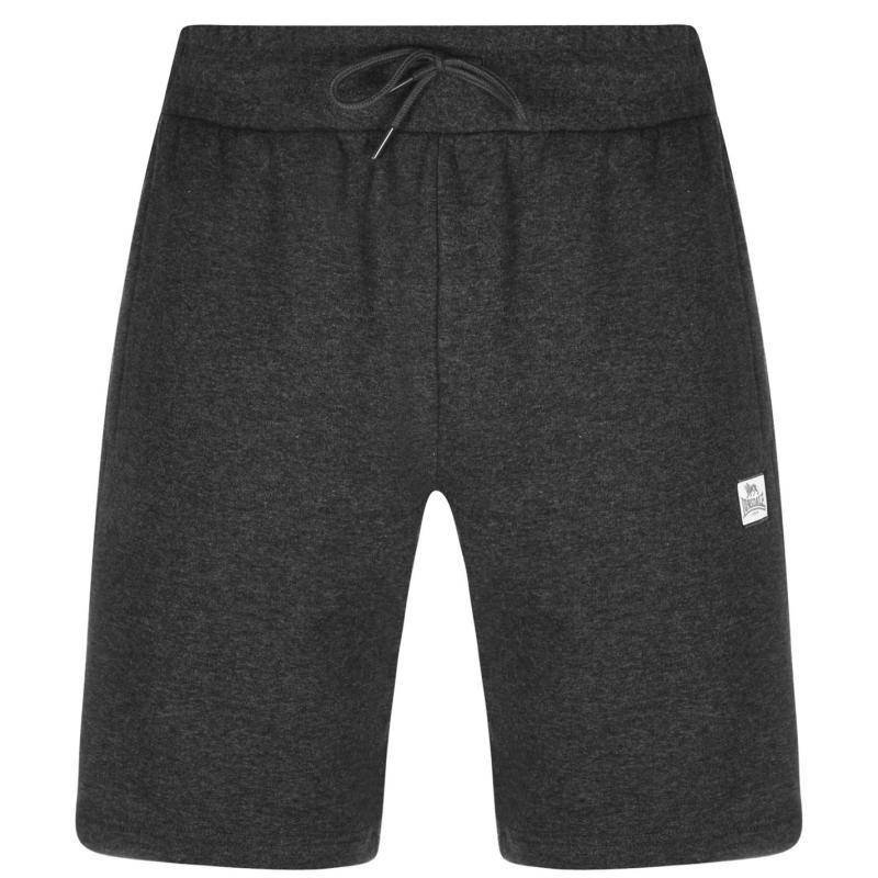 Lonsdale 2S Fleece Shorts Mens Charcoal