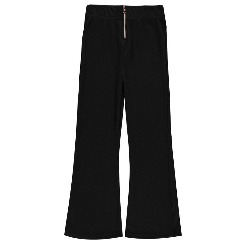 Firetrap Ribbed Wide Leg Trousers Girls Black