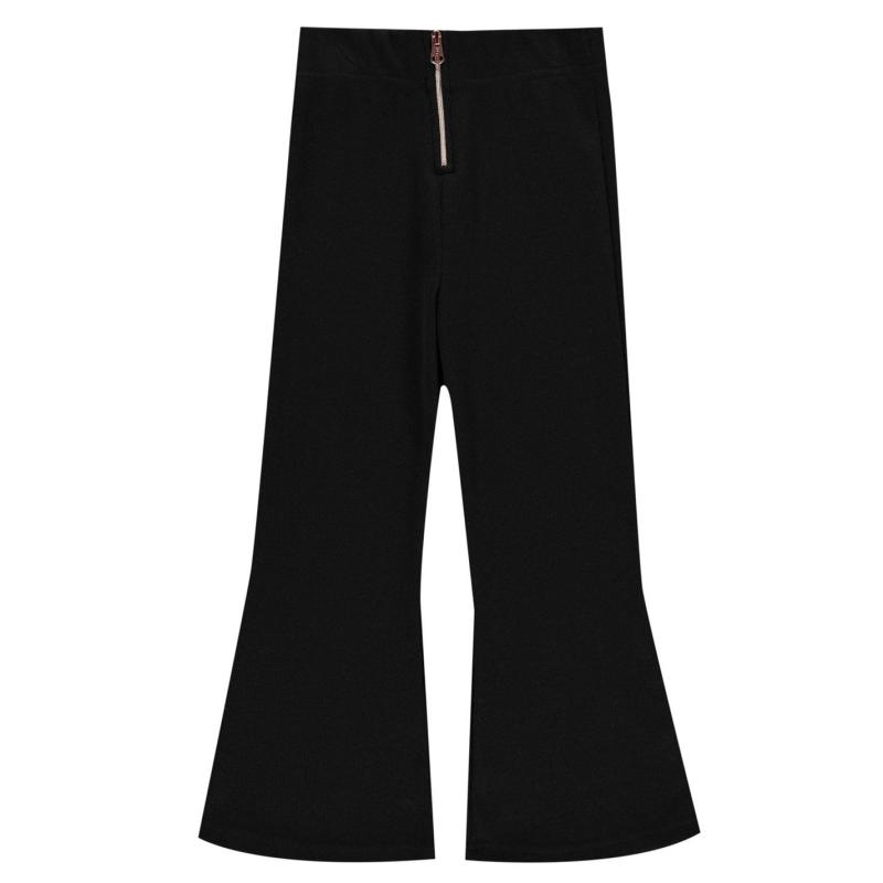 Firetrap Ribbed Wide Leg Trousers Infant Girls Black