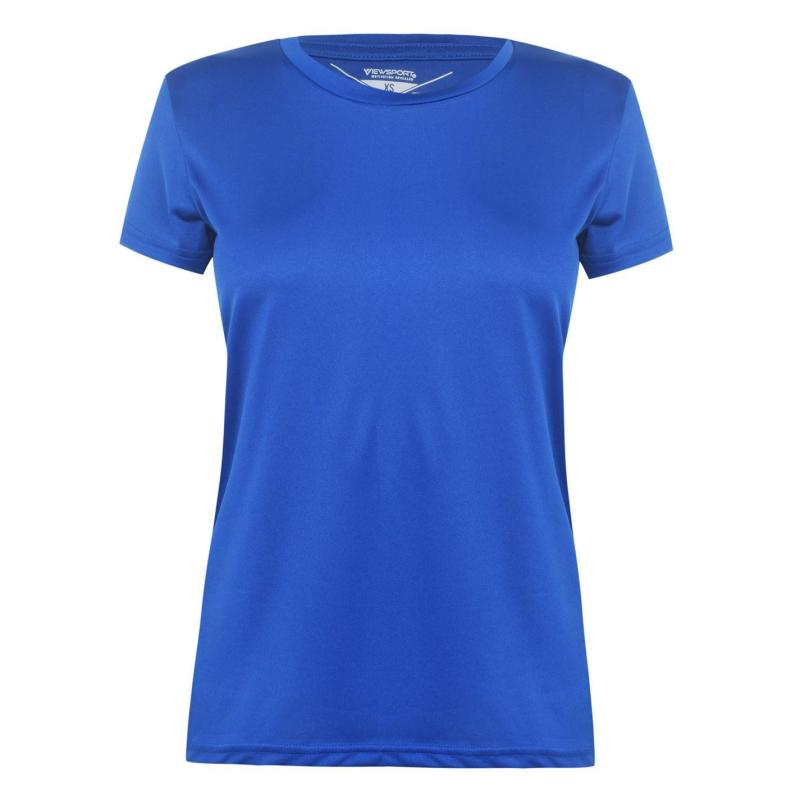 Iron Man Mesh T Shirt Ladies Royal Blue