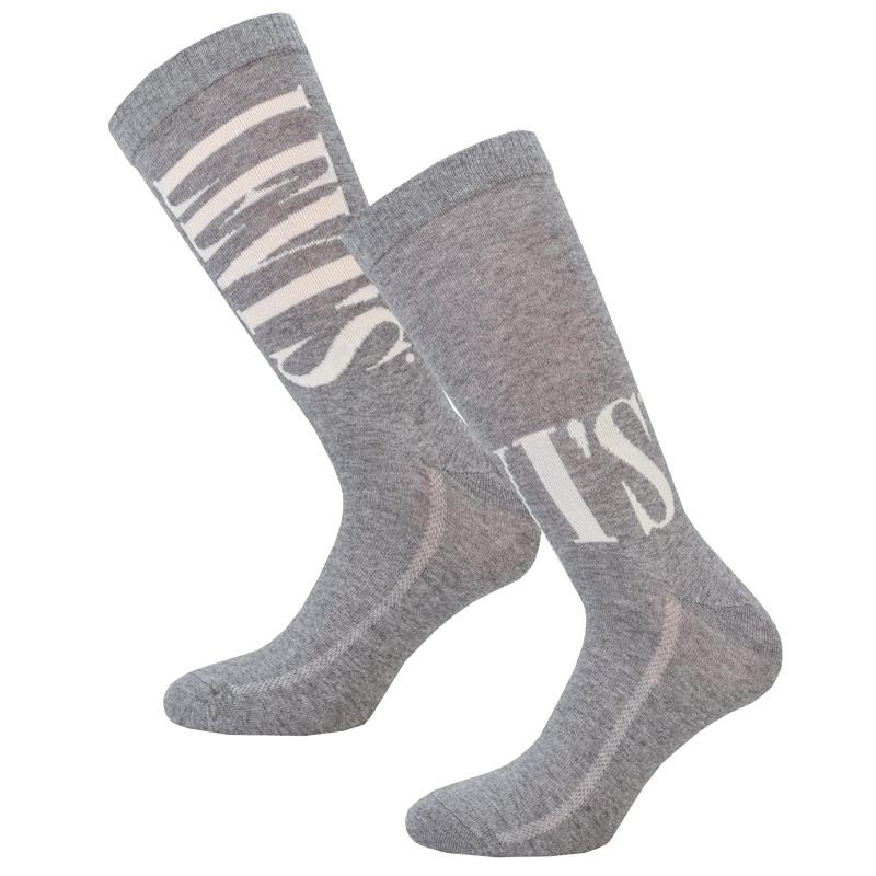 Ponožky Levis Regular Cut Tall 2 Pack Sports Socks Grey