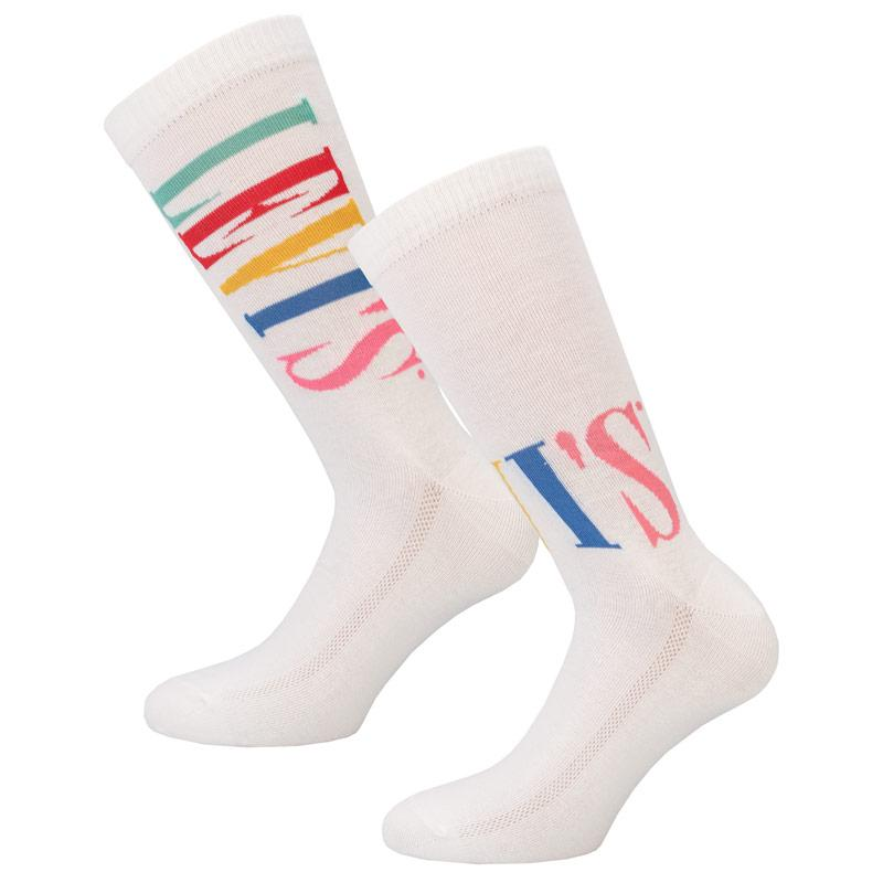 Ponožky Levis Regular Cut Tall 2 Pack Sports Socks White