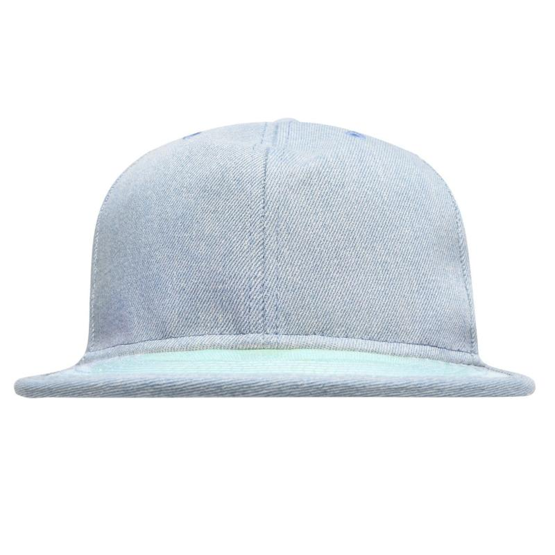 Crafted Bling Flat Peak Cap Junior Girls Denim