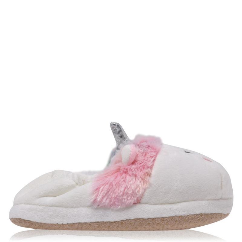 Dunlop Unicorn Slippers Infant Girls White/Pink